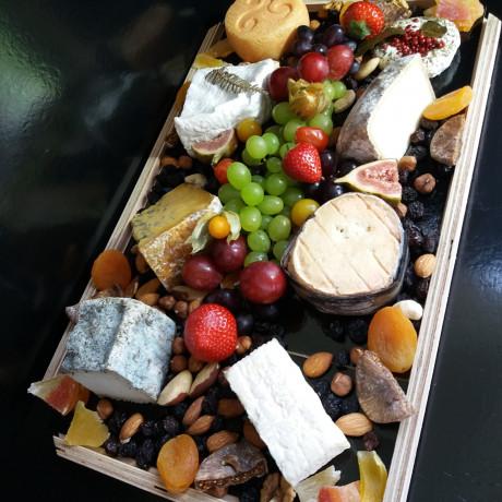 Plateau fromage avec garniture